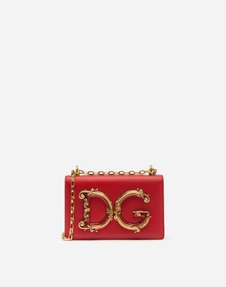 Dolce & Gabbana Girls Shoulder Bag In Nappa Leather