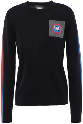 Markus Lupfer Tracy Sequin-embellished Intarsia Merino Wool Sweater