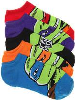 Nickelodeon Teenage Mutant Ninja Turtle Kids No Show Socks - 5 Pack - Boy's