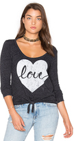 Chaser Heart Love Tee in Charcoal. - size XS (also in )