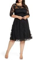 Kiyonna Luna Lace A-Line Dress