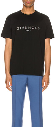 Givenchy Graphic Tee in Black   FWRD