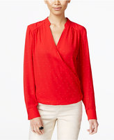 INC International Concepts Petite Surplice Blouse, Only at Macy's