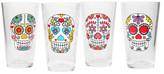 Home Essentials and Beyond Wanderlust Multicolor Skull Highball Glasses - Set of 4