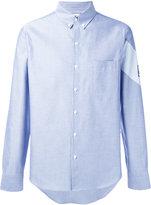 Moncler Gamme Bleu chambray stripe detail shirt - men - Cotton - 1