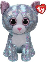 Ty Whimsy Blue Sequin Cat - Large
