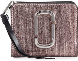 Marc Jacobs Mini Metallic Leather Compact Zip Wallet