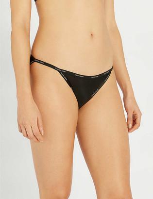 Calvin Klein Sheer Marquisette semi-sheer bikini briefs