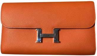Hermes Constance Orange Leather Wallets
