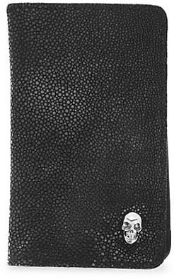 King Baby Studio Small Leather Goods Skull Vertical Card Holder