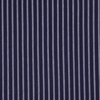 Breton Stripe Jersey Fabric, Navy