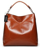 Tibes Fashion Women's Handbag Shoulder Bag 2 in 1 Tote with Pouch