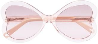 Chloé Bonnie heart-frame sunglasses