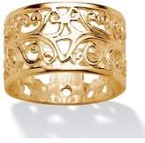 Seta Jewelry Vintage-style Filigree Scroll Design Ring Band.