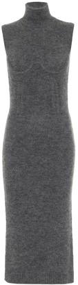 Fendi Turtleneck cashmere-blend midi dress