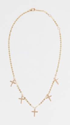 Lana 14k Cross Charm Necklace