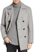 Michael Kors Men's Wool Blend Double Breasted Peacoat