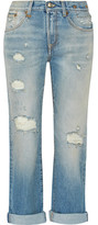 R 13 Catherine Distressed Mid-Rise Boyfriend Jeans