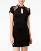 As U Wish Juniors' Embellished Keyhole Bodycon Dress