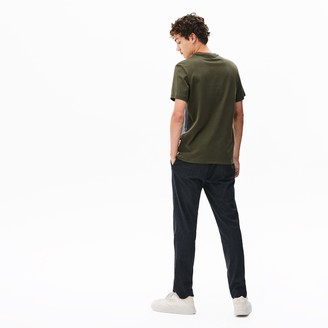 Lacoste Men's Crewneck Print-Blocked Cotton T-Shirt