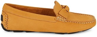 Saks Fifth Avenue Knotted Suede Driving Loafers