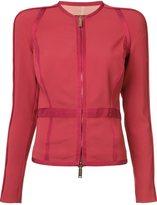 DSQUARED2 panelled zip jacket - women - Spandex/Elastane/Acetate/Rayon - 42