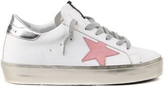 Golden Goose White Hi Star Leather Sneaker