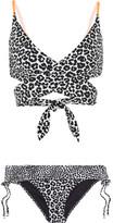 Stella McCartney Printed Wrap Bikini - Midnight blue
