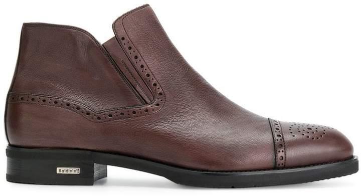 Baldinini brogue toe ankle boots