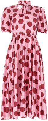 Dolce & Gabbana Short-Sleeved Flared Dress