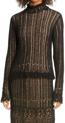 Vince Ladder Stitch Cotton & Mohair Blend Sweater