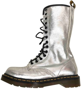 Dr. Martens Silver Leather Boots