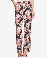 CeCe Garden Blooms Printed Wide-Leg Pull-On Pants