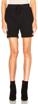 James Perse Cotton Fleece Shorts in Black.