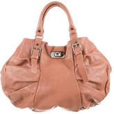 Marni Leather Ruched Hobo