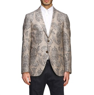Etro Single-breasted 2-button Jacket With Paesley Print
