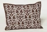 Bacati Damask White and Chocolate Decorative Pillow