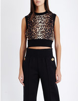 Givenchy Leopard-print cropped wool top