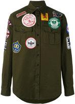 DSQUARED2 patched military shirt - men - Cotton - 46