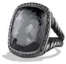 David Yurman Albion Ring With Gray Orchid And Black Diamonds