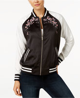 Say What ? Juniors' Floral Bomber Jacket