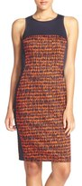 French Connection Women's 'Canyon Sands' Sateen Sheath Dress