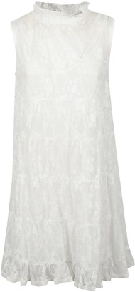See by Chloe Ruffled Laced Sleeveless Dress