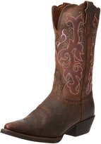 """Justin Boots Women's Stampede Collection 12"""" Boot Narrow Rounded Toe Western Rubber Outsole"""