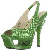 Pleaser USA Women's Deluxe-654RS/GNS Platform Sandal