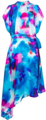 MSGM Asymmetric Printed Dress