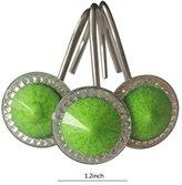twofishes 12pack vintage european circular shape green resin decorative shower curtain hooks antique bathroom