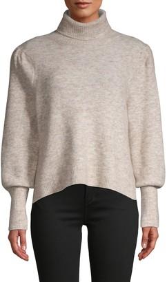 Frame Swingy Rib-Knit Turtleneck Sweater
