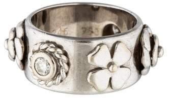Chanel 18K Diamond Camellia Ring