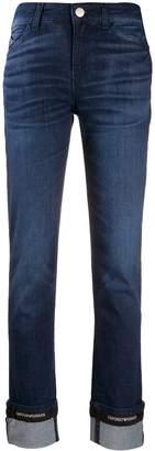 Emporio Armani Ea7 turn-up hem denim jeans